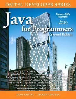 Java for Programmers, 2/e