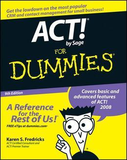 ACT! by Sage For Dummies