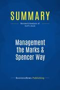 Summary : Management The Marks & Spencer Way - Marcus Sieff