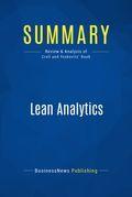 Summary : Lean Analytics - Alistair Croll and Benjamin Yoskovitz