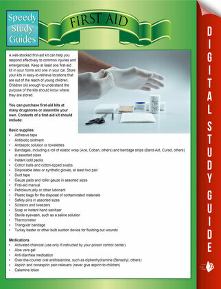 First Aid (Speedy Study Guides)