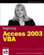 Beginning Access 2003 VBA