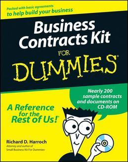 Business Contracts Kit For Dummies<sup>®</sup>