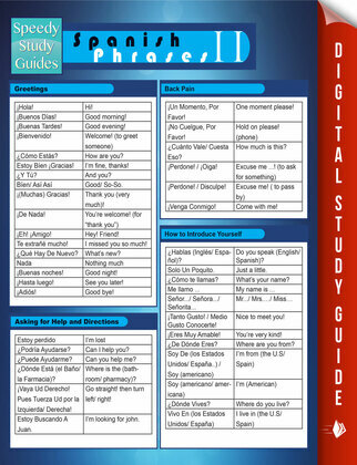 Spanish Phrases II (Speedy Study Guides)