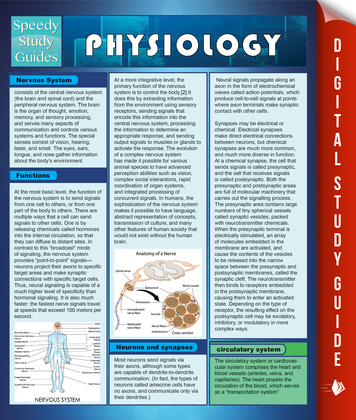Physiology (Speedy Study Guide)
