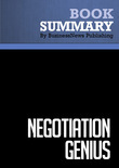 Summary : Negotiation Genius - Deepak Malhotra and Max Bazerman