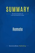 Summary : Remote - Jason Fried and David Hansson