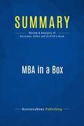 Summary : Mba in a Box - Joel Kurtzman, Glenn Rifkin & Victoria Griffith