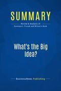 Summary: What's the Big Idea?