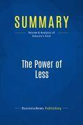Summary : The Power of Less - Leo Babauta