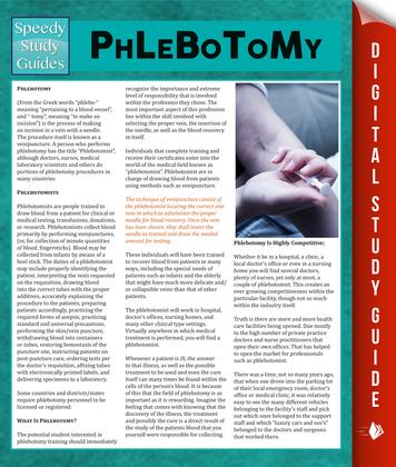 Phlebotomy: Speedy Study Guides