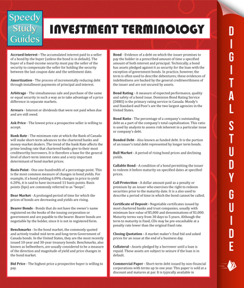 Investment Terminology