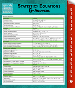 Statistics Equations & Answers: Speedy Study Guides