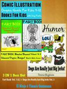 Superpower Children Comic Books For Kids - Comic Illustrations - Books For Boys Age 6: 3 In 1 Box Set: Fart Book: Blaster! Boomer! Slammer! Popper, Ba