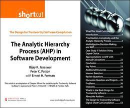 The Analytic Hierarchy Process (AHP) in Software Development (Digital Short Cut)
