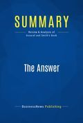 Summary : The Answer - John Assaraf and Murray Smith