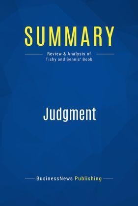 Summary: Judgment