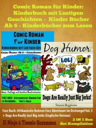 Comic Roman für Kinder: Kinderbuch mit Lustigen Geschichten - Kinder Bücher Ab 6 - Kinderbücher zum Lesen: Furz Buch: Afrikanische Bohnen Furz Abenteu