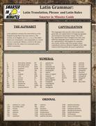 Latin Grammar: Latin Translation, Phrase, and Latin Rules Guide