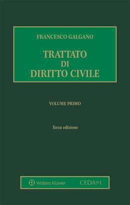 Trattato di diritto civile. Volume primo