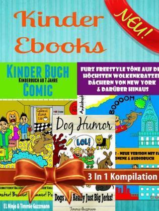Kinder Ebooks: Lustige Kinder Bilderbücher und Kinderwitze - Comic Romane - Comic für Kinder - Für Kinder ab 6 (Bestseller Kinder): 3 In 1 Comic Für K