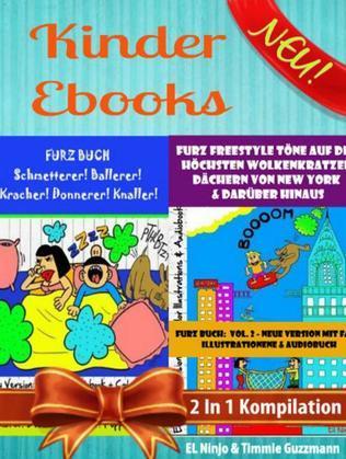 Kinder Ebooks: Lustige Kinder Bilderbücher und Kinderwitze (Bestseller Kinder): Furz Buch Volumen 1 + Volumen 2 Box Set