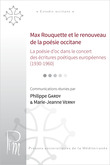 Max Rouquette et le renouveau de la poésie occitane