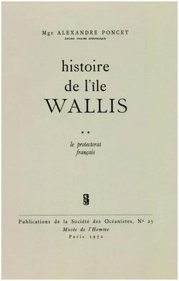 Histoire de l'île Wallis. Tome2