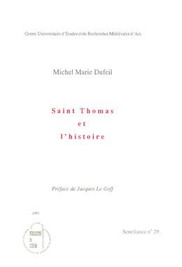 Saint Thomas et l'histoire