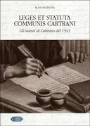 Leges et statuta Communis Cartrani