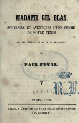 Madame Gil Blas | Paul Féval (père)