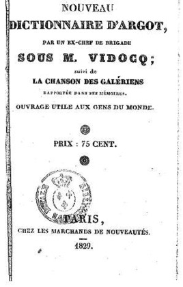 Nouveau dictionnaire d'argot | Bras-de-Fer