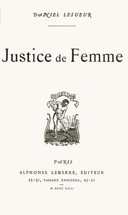 Justice de femme | Daniel Lesueur