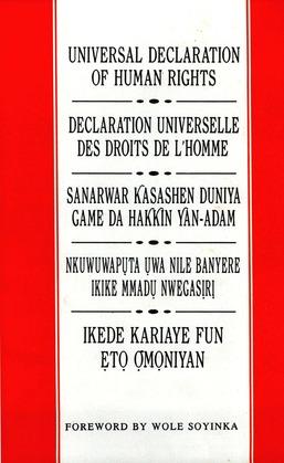 Universal Declaration of Human Rights: English, French, Hausa, Igbo and Yoruba