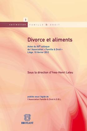 Divorce et aliments