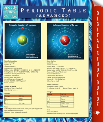 Periodic Table (Advanced) (Speedy Study Guide)