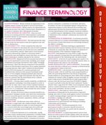Finance Terminology (Speedy Study Guide)