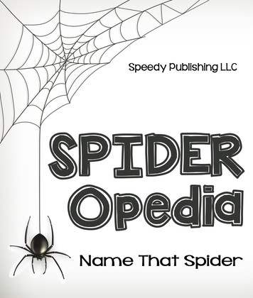 Spider-Opedia Name That Spider