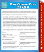Math Common Core 4th Grade (Speedy Study Guide)