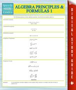 Algebra Principles And Formulas 1 (Speedy Study Guides)