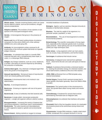 Biology Terminology (Speedy Study Guides)