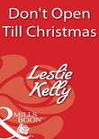 Don't Open Till Christmas (Mills & Boon Blaze)