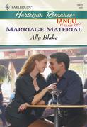 Marriage Material (Mills & Boon Cherish)
