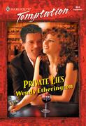 Private Lies (Mills & Boon Temptation)