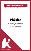 Phèdre de Racine - Acte I, scène 3