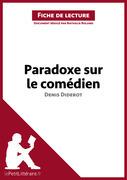 Paradoxe sur le comédien de Denis Diderot (Fiche de lecture)