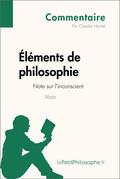 Éléments de philosophie d'Alain - Note sur l'inconscient (Commentaire)