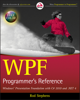 WPF Programmer's Reference: Windows Presentation Foundation with C# 2010 and .NET 4