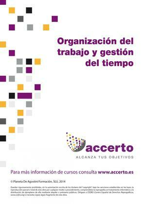 Organización del trabajo y gestión del tiempo