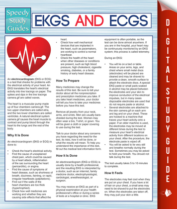EKGS and ECGS (Speedy Study Guides)